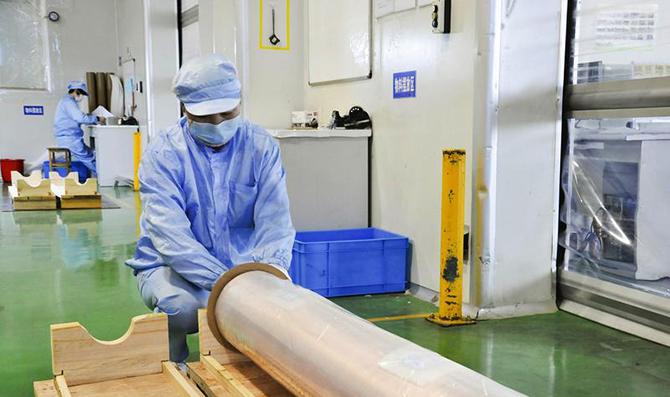安徽銅冠銅箔公司根據疫情情況,靈活調整生產節奏,安全生產疫情防控兩不誤
