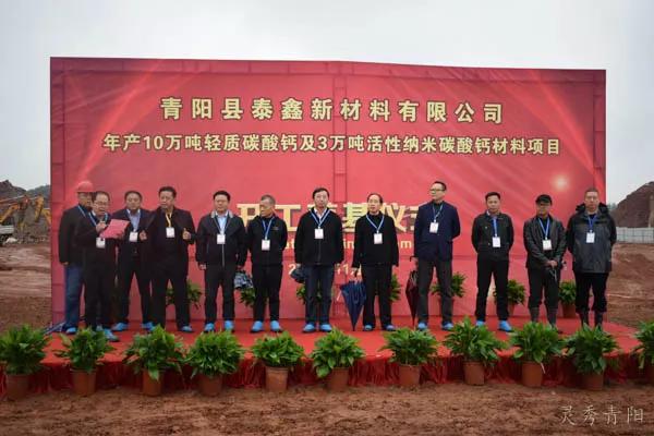 酉華鎮舉行泰鑫新材料項目開工儀式