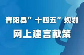 """青阳县""""十四五""""规划网上建言献策"""
